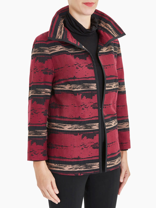 Sheer Detail Landscape Jacket – Misook