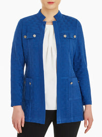 Plus Size Pocket Detail Basketweave Knit Jacket – Misook