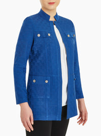 Pocket Detail Basketweave Knit Jacket – Misook