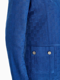 Plus Size Pocket Detail Basketweave Knit Jacket – Premium Detail – Misook