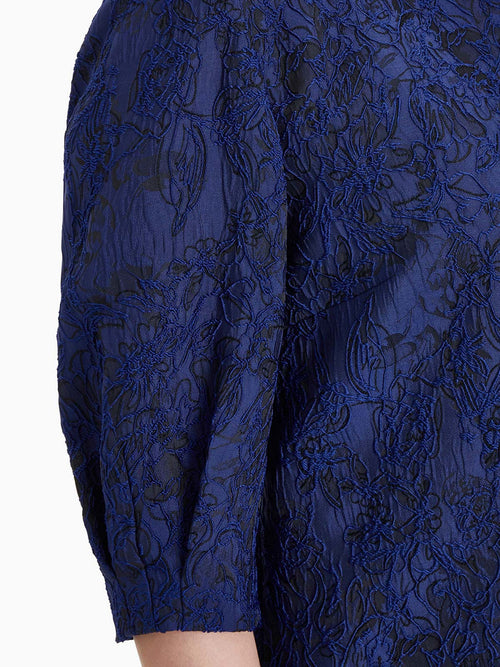 Puff Sleeve Embroidered Floral Woven Jacket – Premium Detail – Misook