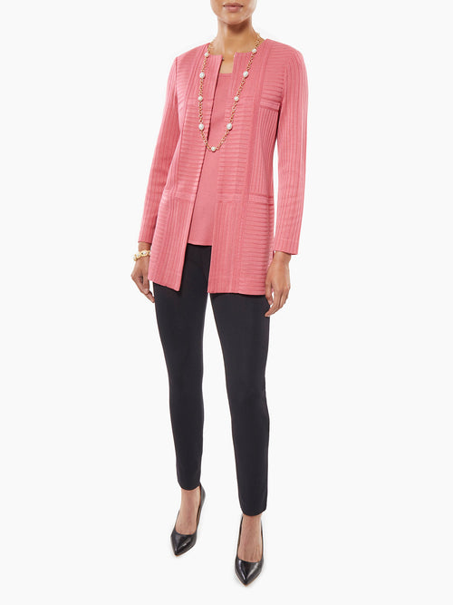 Plus Size Subtle Rib Knit Jacket – Misook