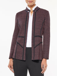 Piped Detail Digital Knit Jacket – Misook