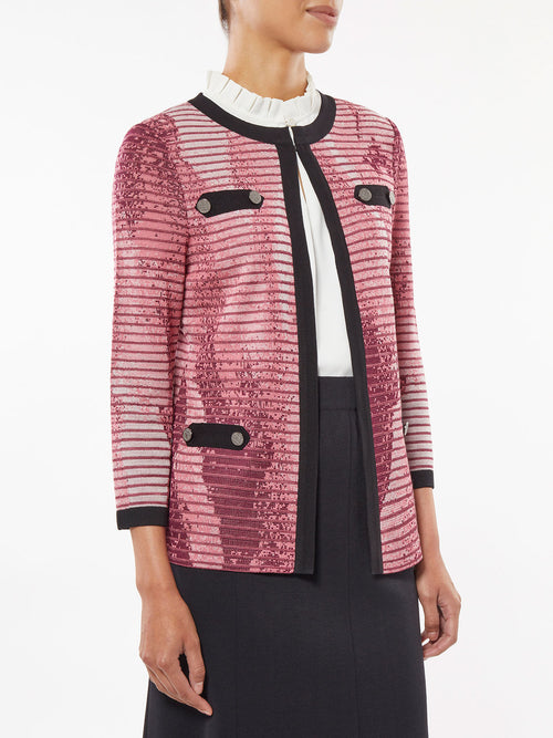 Abstract Ombre Jacquard Knit Jacket – Misook
