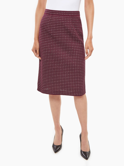 Tweed Knit Skirt – Misook