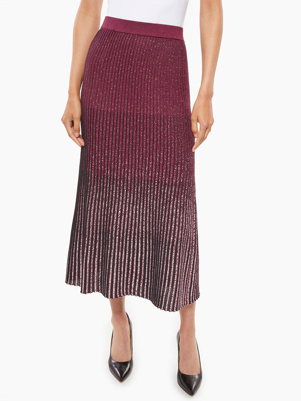 Shimmer Ombre Knit Flare Skirt – Misook