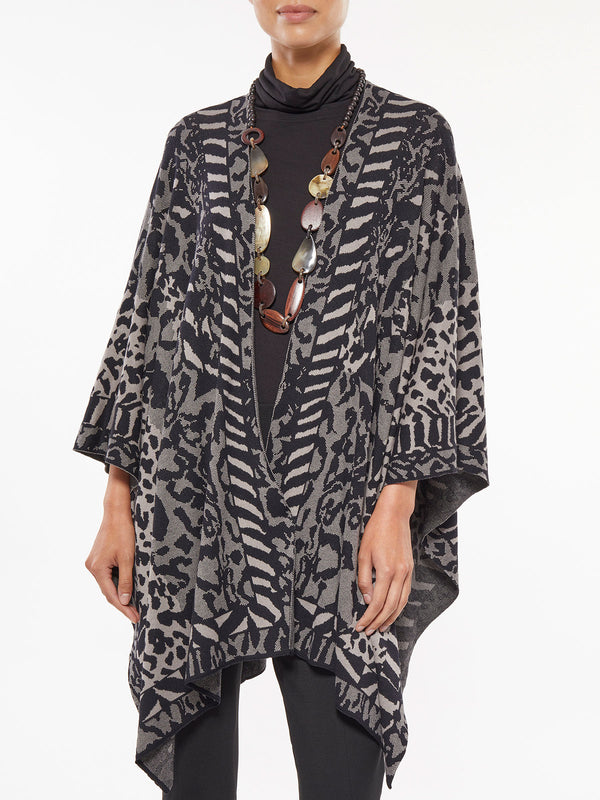 Mixed Animal Print Wrap – Misook