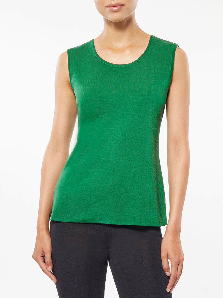 Classic Knit Tank Top, Putting Green – Misook