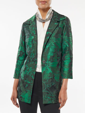 Floral Pattern Statement Jacket