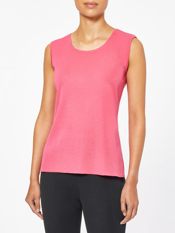 Classic Knit Tank Top, Hibiscus Pink