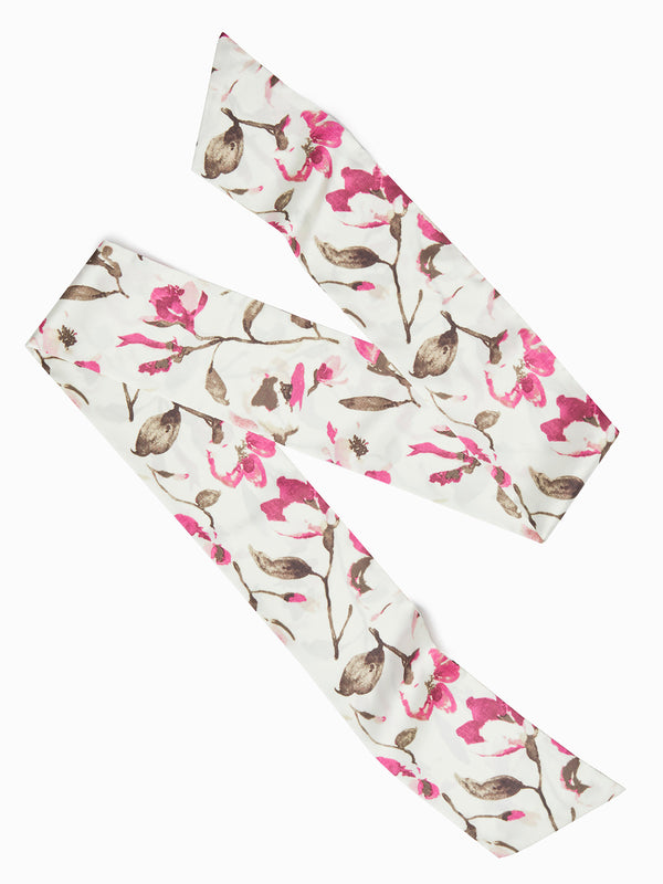 Floral Pattern Twilly Scarf – Misook