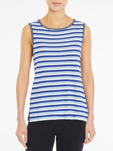 Textured Stripe Knit Tank Top