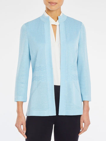 Tonal Multi-Pattern Knit Jacket