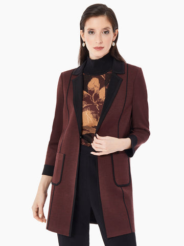 Two-Tone Double Knit Jacket
