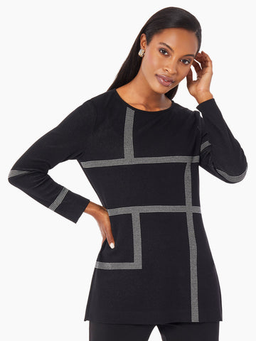 Bold Architectural Lines Knit Tunic