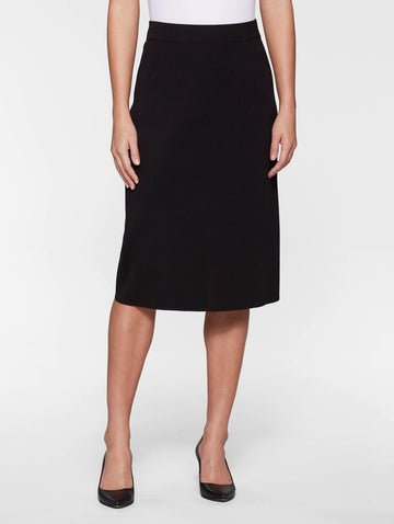 "Plus Size 27"" Straight Knit Skirt, Black"