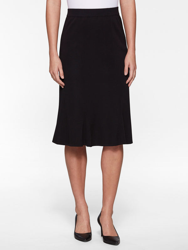 Gored Knit Skirt, Black – Misook