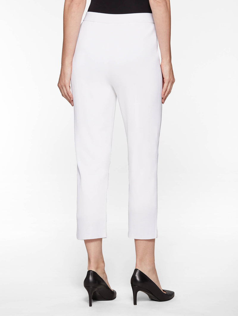 White Lined Ankle Pant