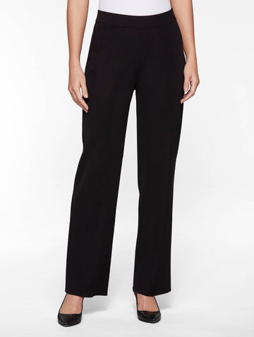 Wide Leg Knit Pant, Black