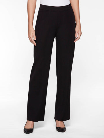 Petite Wide Leg Knit Pant, Black