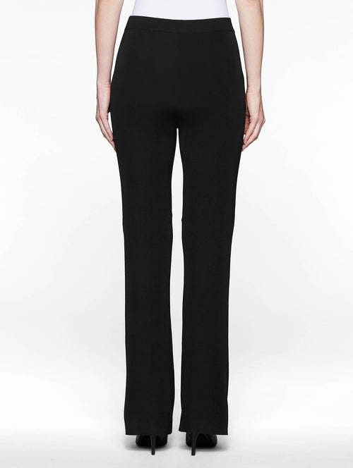 Plus Size Bootcut Knit Pant, Black