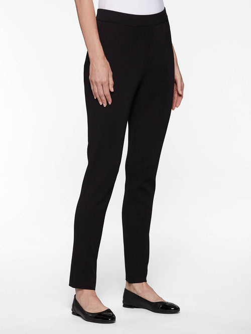 Slim Leg Knit Pant, Black – Misook