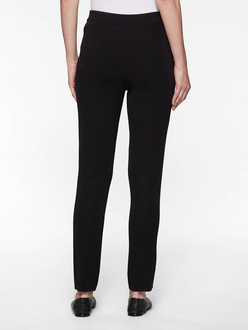 Slim Leg Knit Pant, Black