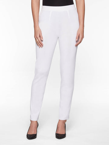 Slim Leg Knit Pant, White