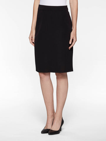 "Plus Size 23"" Straight Knit Skirt, Black"