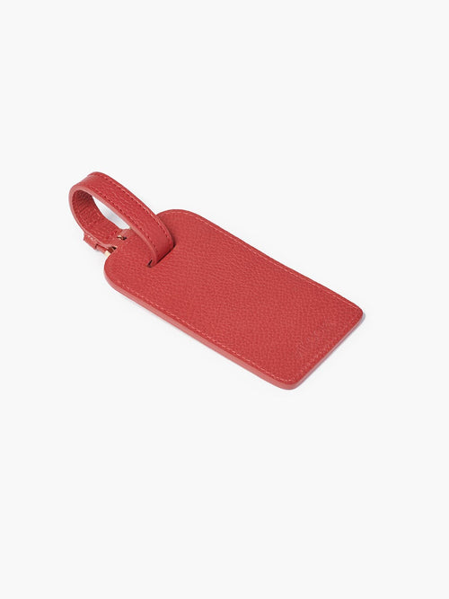 Deluxe Luggage Tag in Color Red