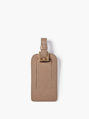 Deluxe Luggage Tag, Taupe