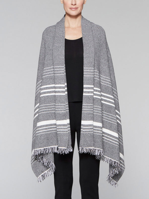 Striped Fringe Wrap