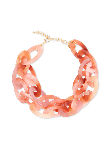 Coral Pink Statement Necklace