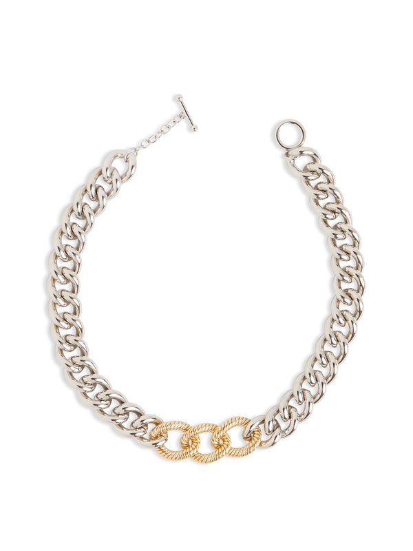 Two-Tone Large Link Necklace – Misook