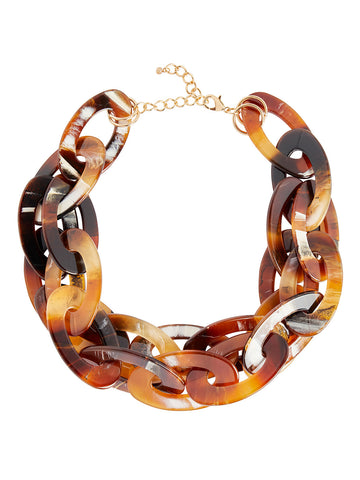 Two-Row Tortoise Statement Necklace