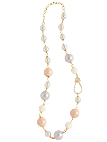 Multi Pearl Long Necklace
