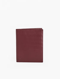 The Misook Passport Wallet in color Burgundy Leather - Front