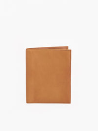 The Misook Passport Wallet in color Tan Leather - Front