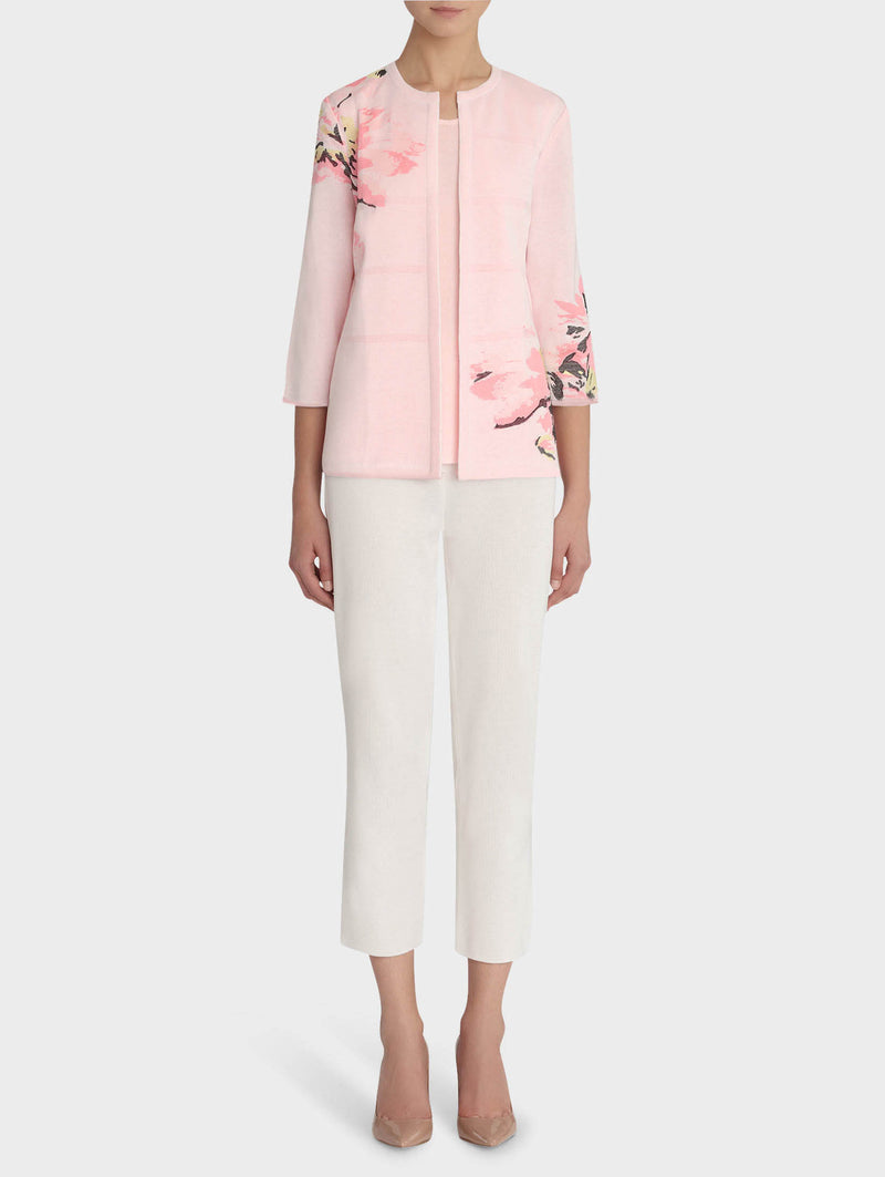 Sugar Pink Embroidered Floral Jacket