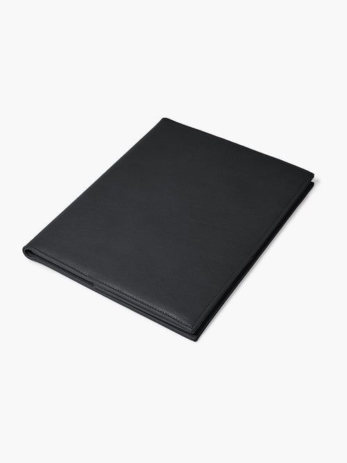 Leather Padfolio in Color Black; Closed