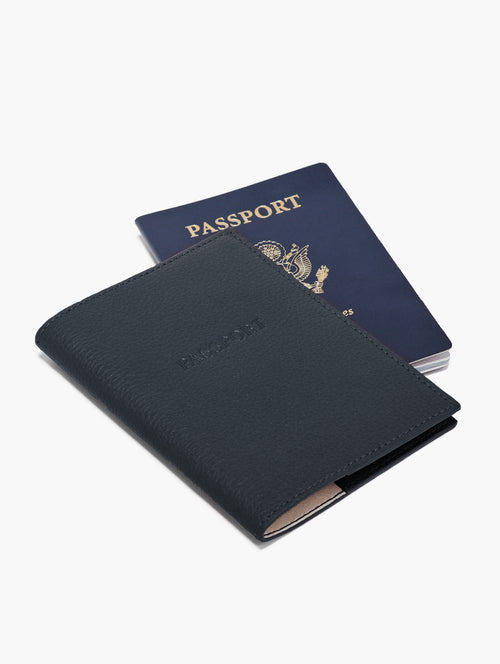 Passport Cover and Luggage Tag Set, Navy