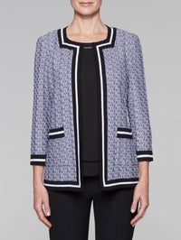 Square Neck Graphic Jacket