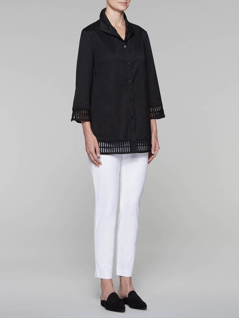 Cotton Tunic with Trim