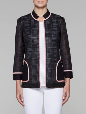 Sheer Plaid Jacket