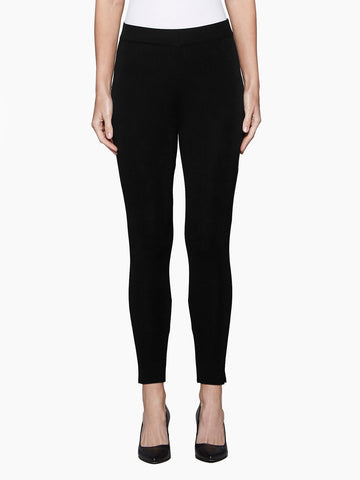 Petite Knit Ankle Leggings, Black