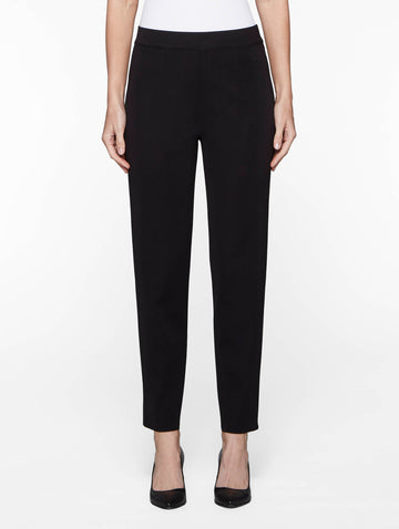 Petite Cropped Knit Pant, Black