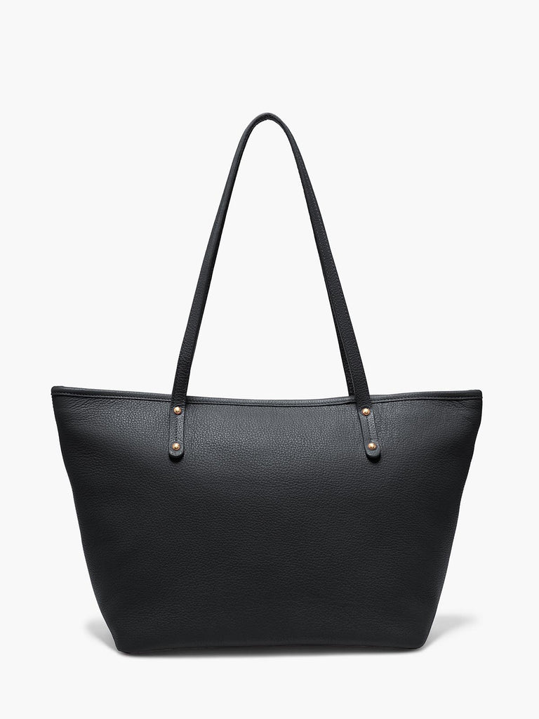 Bleecker Tote Bag in Color Black with Brushed Gold Hardware