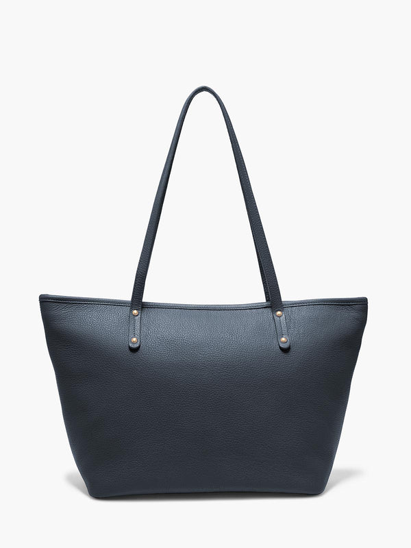 Bleecker Tote Bag in Color Navy Blue with Brushed Gold Hardware