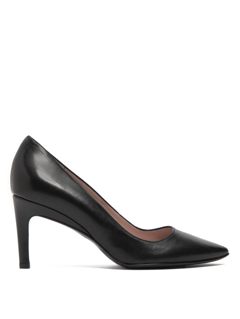 Taryn Rose Gabriela Black Leather Pump