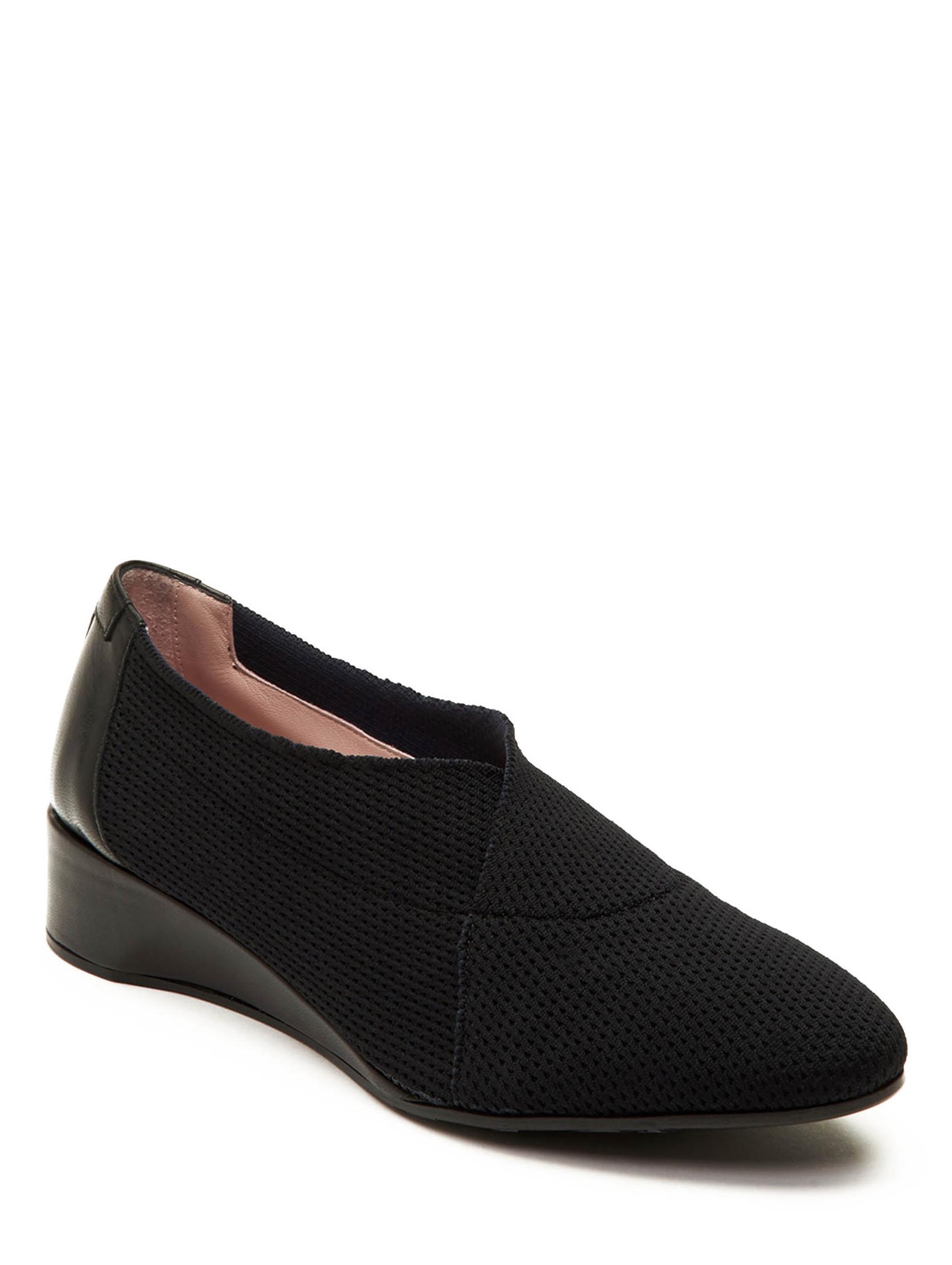 Taryn Rose Celeste Black Stretch Knit Wedge